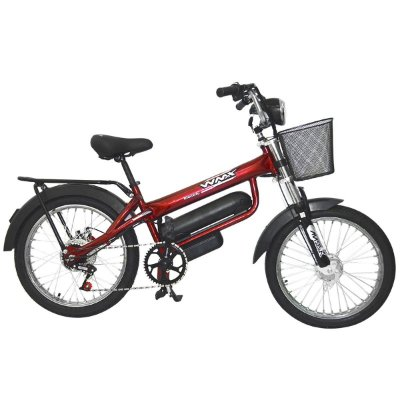 Bicicleta Emx Elétrica Motorizada 350w 12ah Bikelete - Vermelho