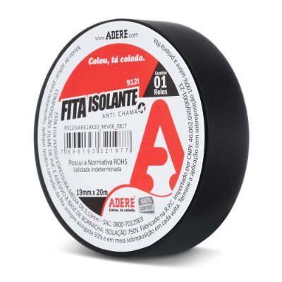 Fita Isolante Anti Chamas 19mm x 20m Adere 912L