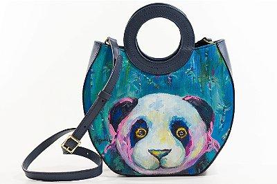 Bolsa AANIS Arte Mid Panda Gigante Marinho