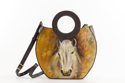 Bolsa AANIS Arte Mid Cavalo Café