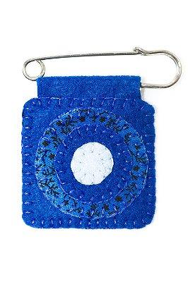Berloque Feltro Mandala Azul Alegria