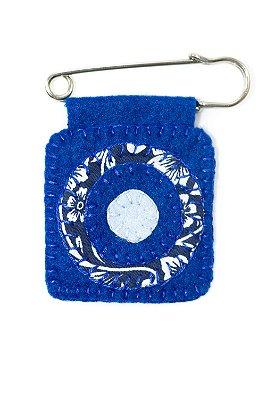 Berloque Feltro Mandala Azul Esperança