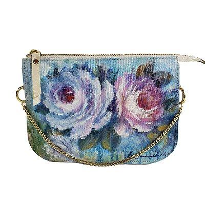 Bolsa AANIS Mini Rosas Azuis