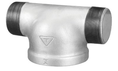 """Tê de hidrante 4x2.1/2"""" - BSP Galvanizado"""
