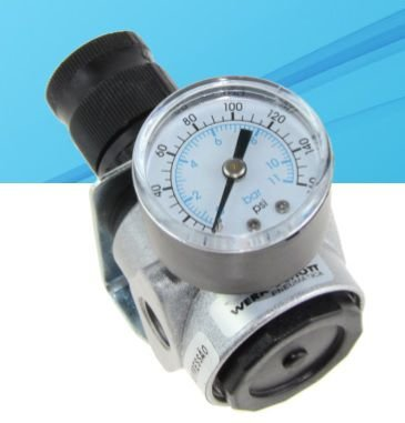 regulador de pressão com manômetro 1/4''