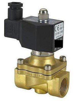 Válvula Solenoide 1'' água, ar, óleos leves e gás