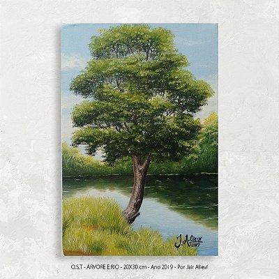 Quadro Pintura Árvore - Tinta Óleo Sobre Tela 20x30cm