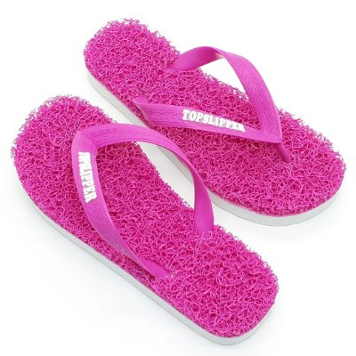 Chinelo Funcional Anti Stress Massageador Rosa com Branco