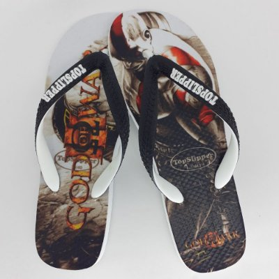 Chinelo Estampado God Of War Tira Bicolor