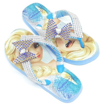 Chinelo Frozen Decorado com Strass