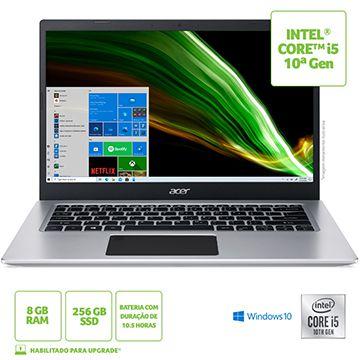"NOTEBOOK ACER 14"" HD A514-53-59QJ / NX.A4LAL.003 / I5-1035G1/ 8GB/ 256GB SSD/ W10 HOME"