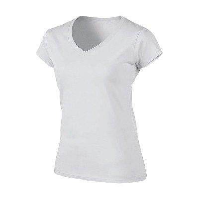 Camiseta Feminina Básica em Algodão - Gola V - Várias Cores