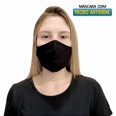 Máscara de Tecido Antiviral - Dupla Camada