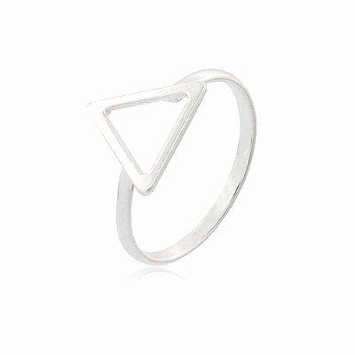 Anel Prata 925 Triângulo Pequeno Vazado