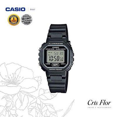 Relógio Casio Mini Preto Borracha LA-20WH-1A
