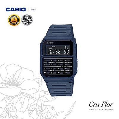 Relógio Casio Calculadora Azul CA-53WF-2BDF