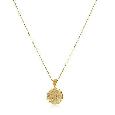 Colar Folheado Medalha de São Bento