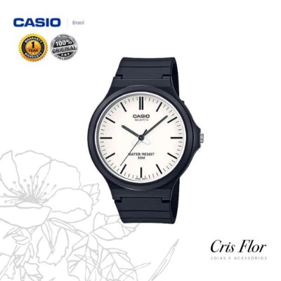 Relógio Casio Pulseira Borracha Branco MW-240-7EVDF