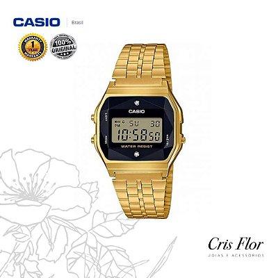 Relógio Casio Dourado Diamond A159WGED-1DF