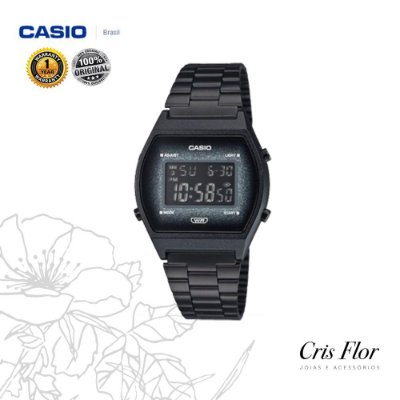 Relógio Casio Vintage Glitter Preto B640WBG-1BDF