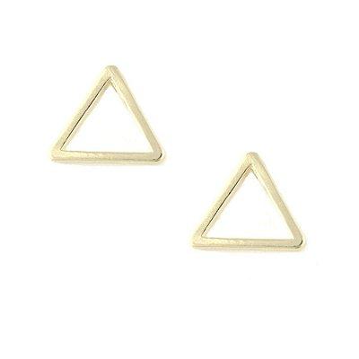 Brinco Folheado Triângulo Médio Vazado
