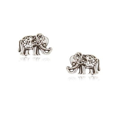 Brinco Prata 925 Elefante Bali