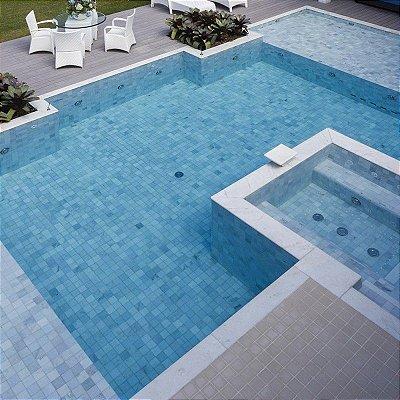 Pedra Água Marinha 10 X 10 Cx.  com 1m²