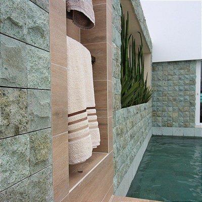 Pedra Hijau Bruta 10 X 10 Cx.  Com 0,5M²