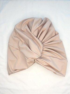 Turbante Touca Transpassado Nude Bege