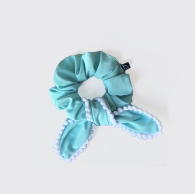 Scrunchie Amarrador De Tecido Com Laço Pompom