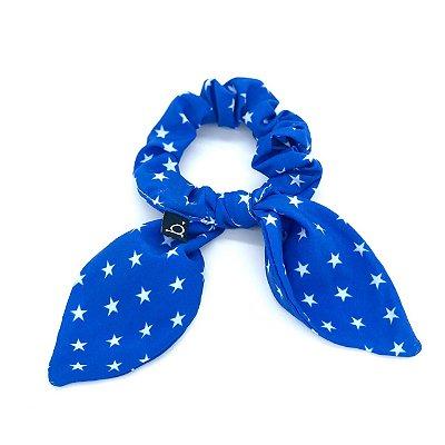 Scrunchie Amarrador De Cabelo Infantil Heroínas Azul 2