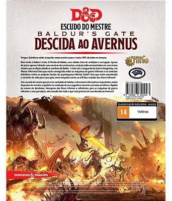 Dungeons & Dragons - Escudo do Mestre para Descida ao Avernus