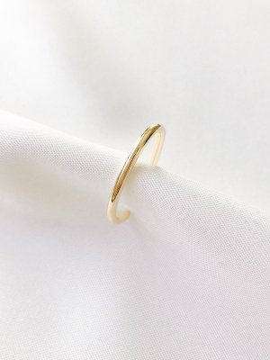 Piercing Malu em aro liso banhado a ouro 18K