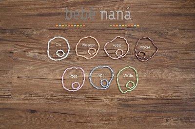 Conjunto pulseira e colar (headband) de pérola