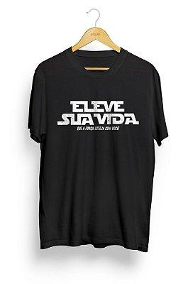 Camiseta masculina Eleve sua Vida - Preta