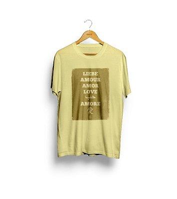 Camiseta Liebe (amarela) - Masculina