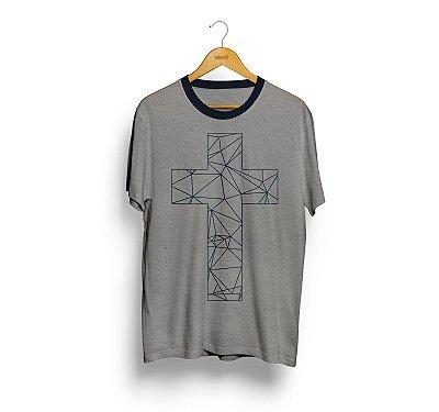 Camiseta Cruz (Botone Mescla Cinza) Masculina