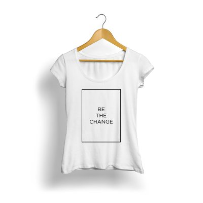 Be the Change (Branca) Feminina