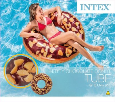 Boia Inflável Redonda Donut Chocolate Intex