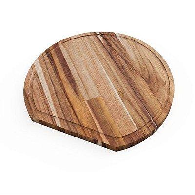 Tábua de corte Krug - madeira Teca - Monte Novo