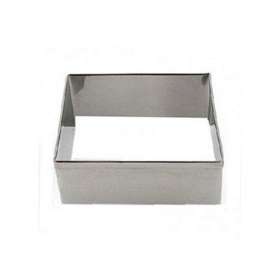 Aro cortador quadrado de inox n7 - 9,8 x 4 cm Doupan