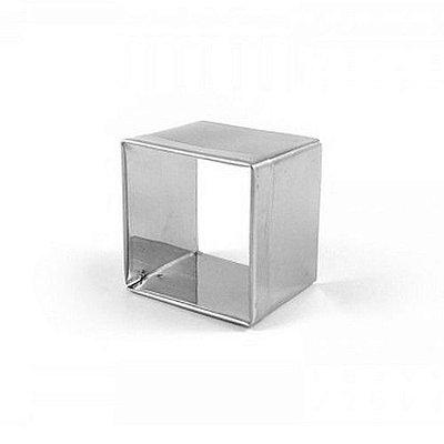 Aro cortador quadrado de inox n2 - 3,7 x 4 cm Doupan