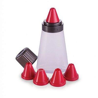 Bisnaga para Confeitar 5 bicos Plasútil