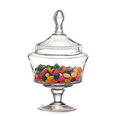 Bomboniere de vidro com tampa Luvidarte