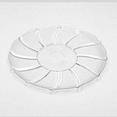 Prato para bolo de vidro 35 cm Luvidarte