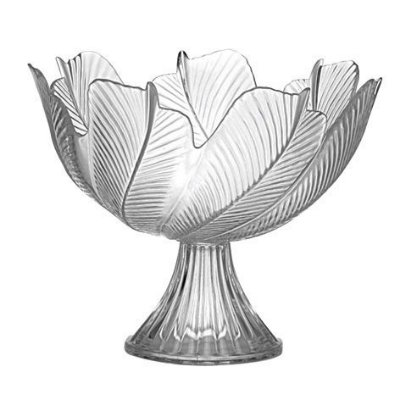 Centro de mesa de vidro folhas Luvidarte