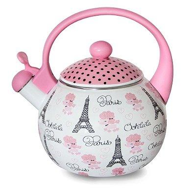 Chaleira com apito 2,2 litros Paris Decor&Casa