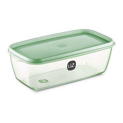 Pote vision retangular verde translúcido 3 litros UZ