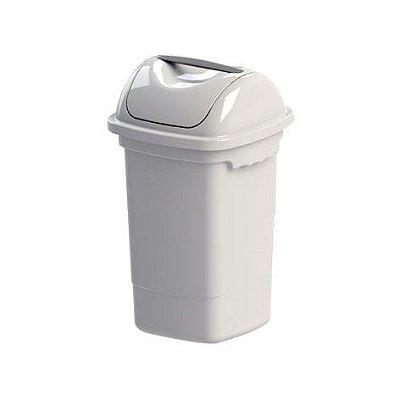 Lixeira basculante 14 litros Plasvale branca