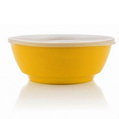 Saladeira Luna amarela 5 litros com tampa - Ou